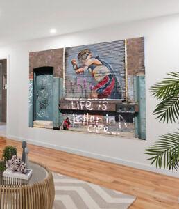 Painting-Graffiti-Street-Art-Banksy-life-better-in-cape-Print-Canvas-Australia