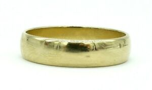 10k-Solid-Gold-Men-039-s-Wedding-Ring-3-0-Grams-5-mm-Band-Size-10-Sizable-14kt-585