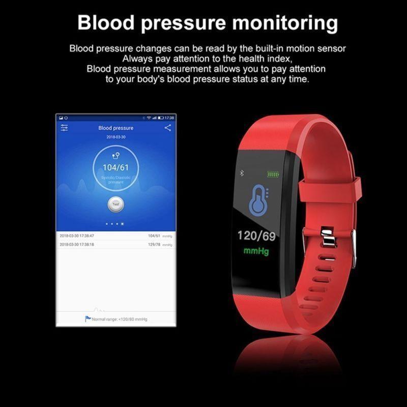 USA IP67 Waterproof Watch Pedometer Tracker ID115