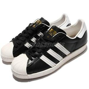 new concept e8dbf faf70 Image is loading adidas-Originals-Superstar-80s-Black-White-Men-Classic-