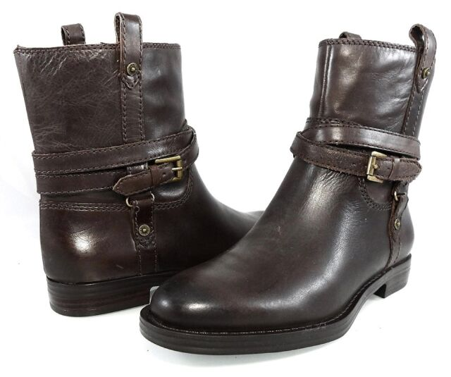 149 ENZO ANGIOLINI ELISSA PULL ON MOTO ANKLE BOOTS FLAT RIDING Women s ... 82f44ebef
