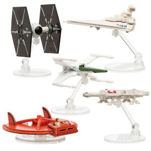 Hot-Wheels-Disney-Star-Wars-Original-Concept-Starships-Diecast-Model-Toys-Stands