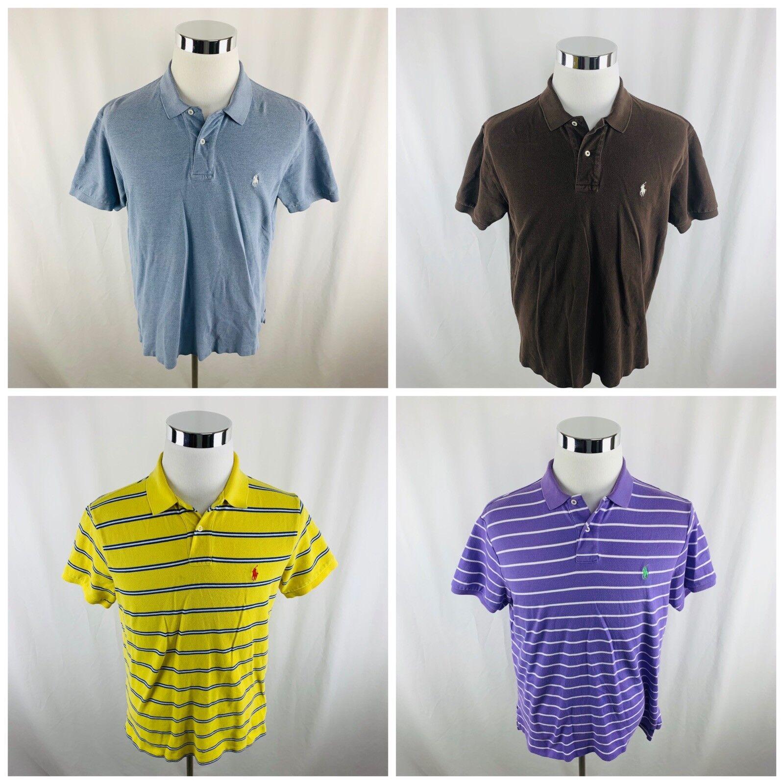 7b513a85443b of Polo Ralph Lauren Mens Large Short Sleeve Polo Shirts 4 Lot ...