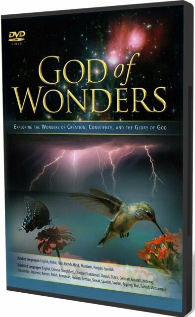 GOD OF WONDERS EXPLORING THE WONDERS OF CREATION MULTI LANGUAGE DVD