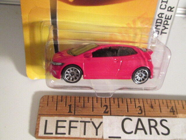 MATCHBOX RED '08 HONDA CIVIC TYPE R SCALE 1 61 ON LONG CARD -  RARE