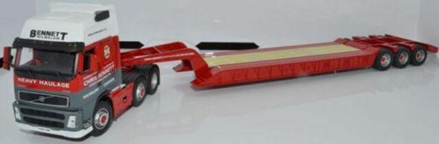 CARARAMA CR030 VOLVO FH LOW LOADER diecast model CHRIS BENNETT 1:50th scale