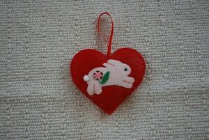 Hand-made-Heart-Rabbit-Bunny-Hanging-Decorations-100-CHARITY
