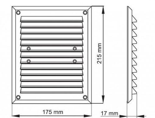 """Air vent grille 175 mm x 295mm 7 /""""x 12/"""" blanc couverture de ventilation mesh insectes M013"""