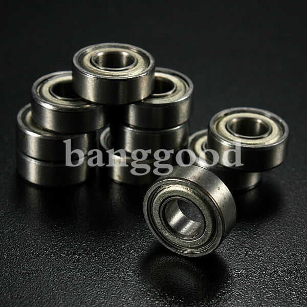 10pcs Miniature Rubber Sealed Metal Shielded Metric Radial Ball Bearing Model 37