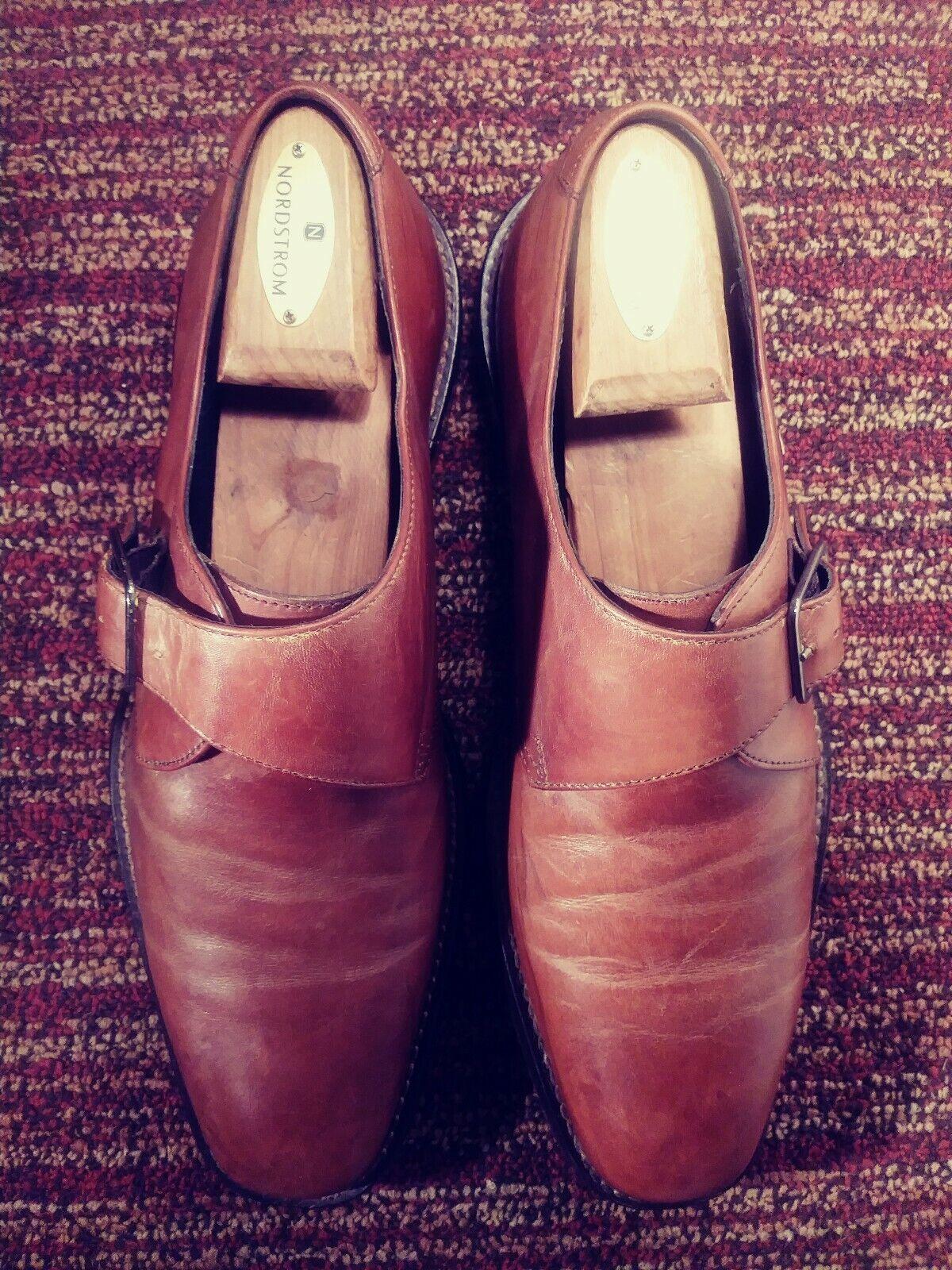 J Murphy Homme Moine Cognac Chaussures Marron Taille 9.5 M