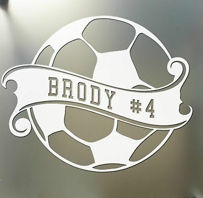Soccer Ball Vinyl Decal Car Window Sticker You Pick The Size /& Color