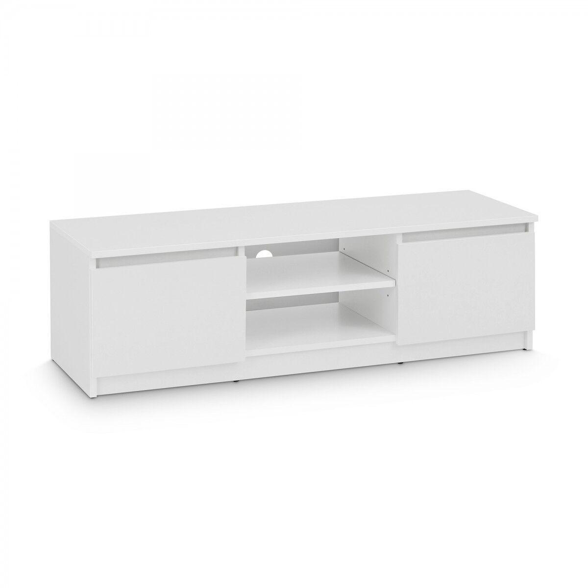 TV Lowboard Board Fernseher Schrank Fernsehtisch TV-Möbel Unterschrank Weiß