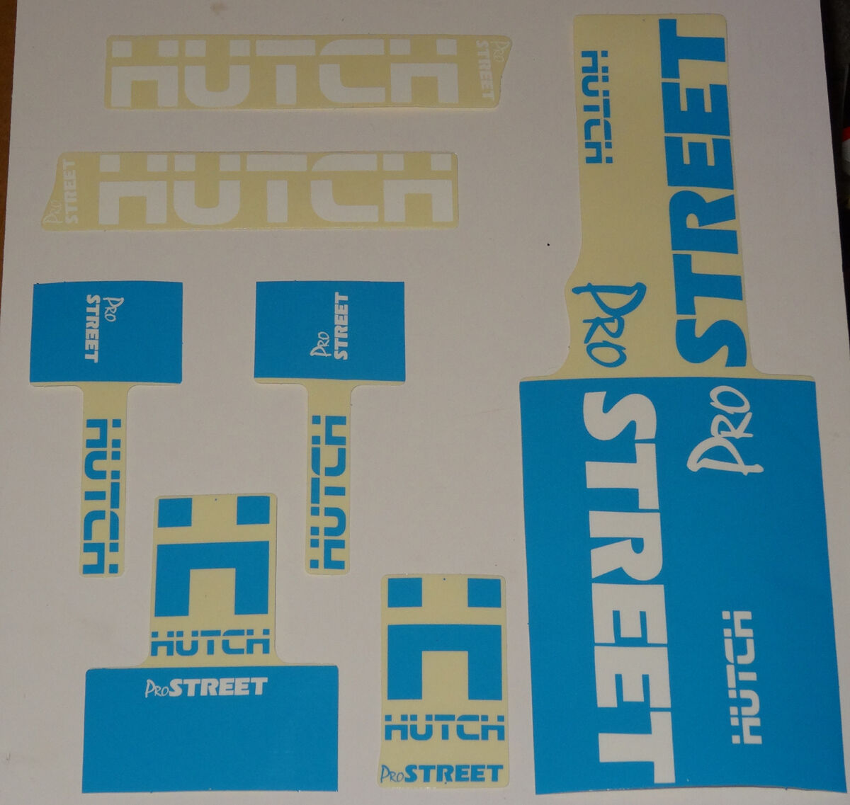 HUTCH Street BMX Sticker Set  NOS Old School gratuitostile Decal set Original 80s