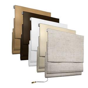 raffrollo innen rollo fenster stoffrollo baumwoll rollo f wand deckenmontage ebay. Black Bedroom Furniture Sets. Home Design Ideas