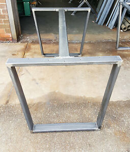 Image Is Loading DIY Industrial Trapezoid Steel Dining Table Legs With