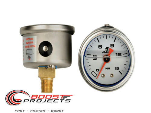 Aeromotive 0-15 psi Fuel Pressure Gauge 15632