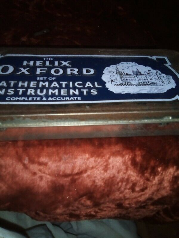 VINTAGE RETRO HELIX OXFORD MATHEMATICAL SET INSTRUMENTS