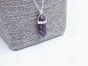 Natural-Amethyst-Amulet-Healing-Charm-Pendant-Chakra-Reiki-Necklace-Love-Gift-UK