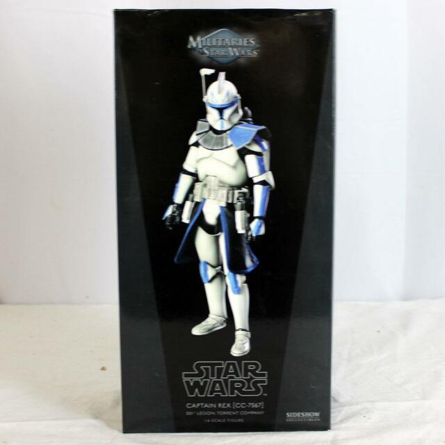 Militaries of Star Wars Sideshow 1:6th Scale Figure Mint Captain Rex NO RESERVE!