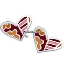 2pcs Candy Butterfly Colored Earrings Love Earrings Epoxy Stud Stainless Steel
