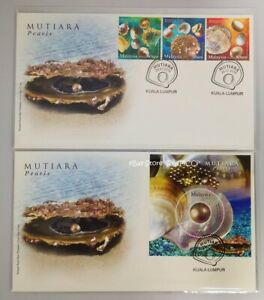 MALAYSIA-Pearls-2015-Stamp-amp-Miniature-Sheet-FDC