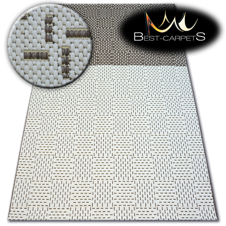 MODERN NATURAL SISAL RUG 'FLAT' PRACTICAL Carpet cream FlatWeave Easy Clean