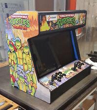 Complete 2 player bartop arcade machine, Ninja Turtles theme, runs on hyperspin!