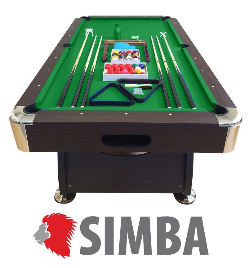 TAVOLO DA BILIARDO 8 ft + ACCESSORI PER CARAMBOLA - SNOOKER green 220 X 110 CM