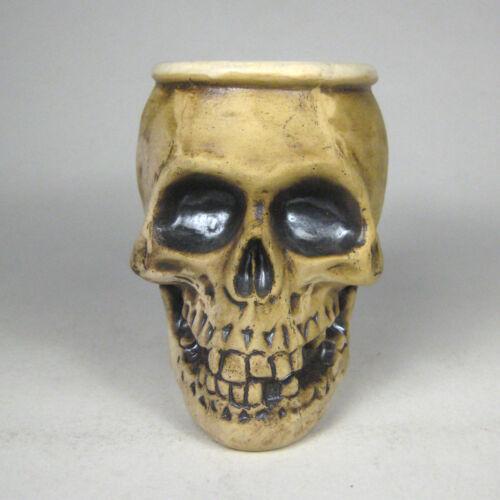 Skeleton Mug Head Face Bone Handle Halloween Decor Spooky Eyes