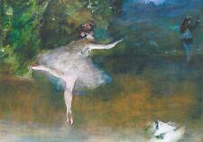 RARE EDGAR DEGAS ballerina dances in dusk ballet Russian modern postcard