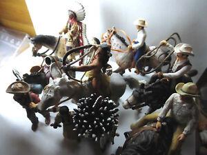 Schleich-Western-Indianer-Cowboy-Sioux-Siedler-Trapper-einzelnd