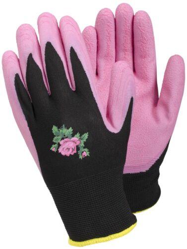 Tegera 90067 Mujer Rosa Palma Látex repelente al agua guante de trabajo de jardinería