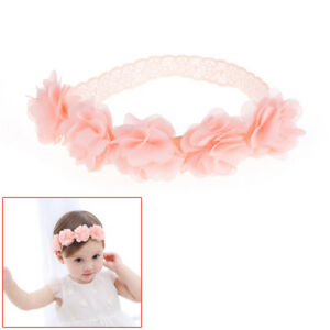47a62a8e3184 Baby Girl Toddler Lace Flower Hair Band Headwear Kids Headband ...