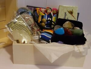 Wiccan Gift Set, Sage Gift Set, Chakra Stones, Worry Dolls, Crystals, Pagan,