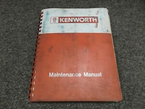 kenworth truck repair manual