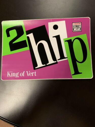 "Vintage BMX Freestyle 2Hip King of Vert Ramp Sticker Vision Street Wear BIG9/""X6/"""