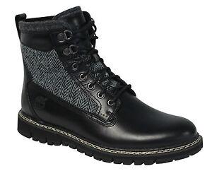 Timberland-Britton-Hill-15-2cm-Forro-Calido-Cuero-Botas-de-hombre-color-negro