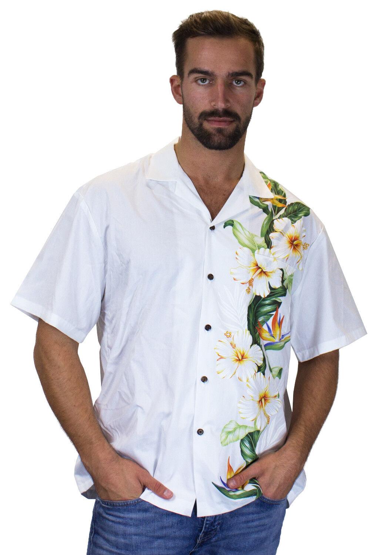 KY's Original Camicia Hawaiana Nozze Wedding Bianco