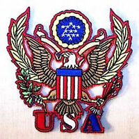 USA SEAL PATCH 541 american crest crafts fabric patches iron on military eagle