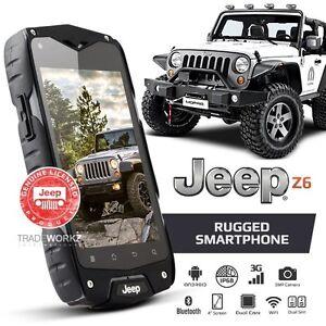 Genuine Jeep Z6 Grey Waterproof Android 3g Dual Sim Rugged