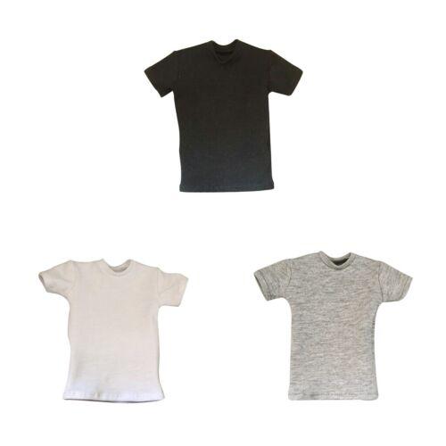 1//6 Grau Lose Runde Hals Kurz T-Shirt Top Für 12 Zoll Männliche Action-Figur