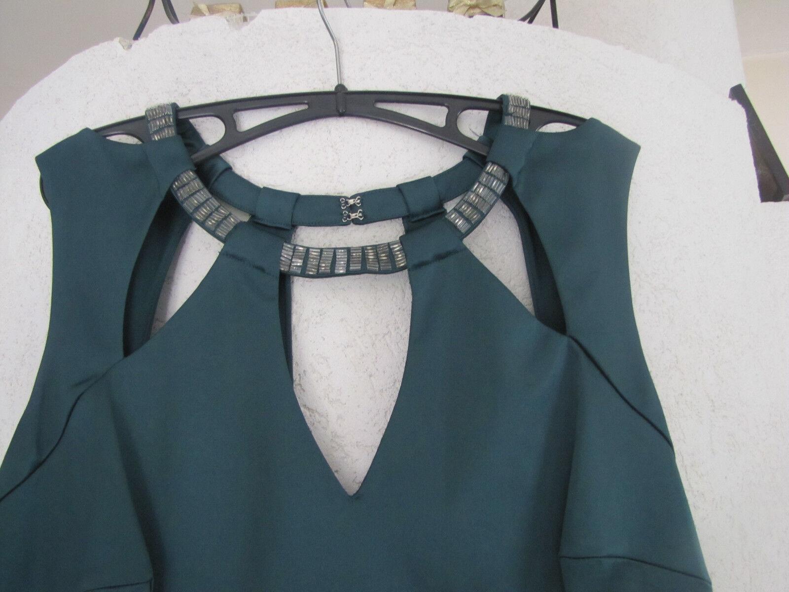46 Début designer Ball Kleid Grün Satin schön ausgefallen einmalig Maße beachten