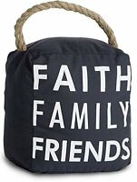 Pavilion Gift Company 72159 Faith Family Friends Door Stopper, 5 By 6-inch, New, on sale