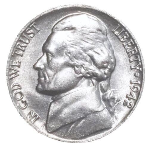 1942  BU Jefferson Nickel