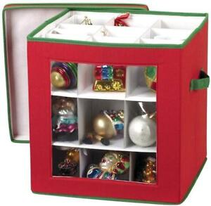 image is loading christmas ornament storage box for 27 large ornaments