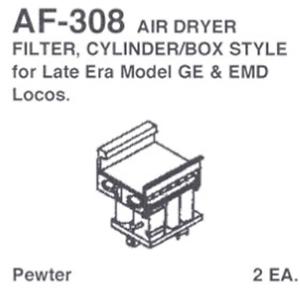 Cylinder//Box Style Details West AF-308 HO Scale Air Dryer Filter