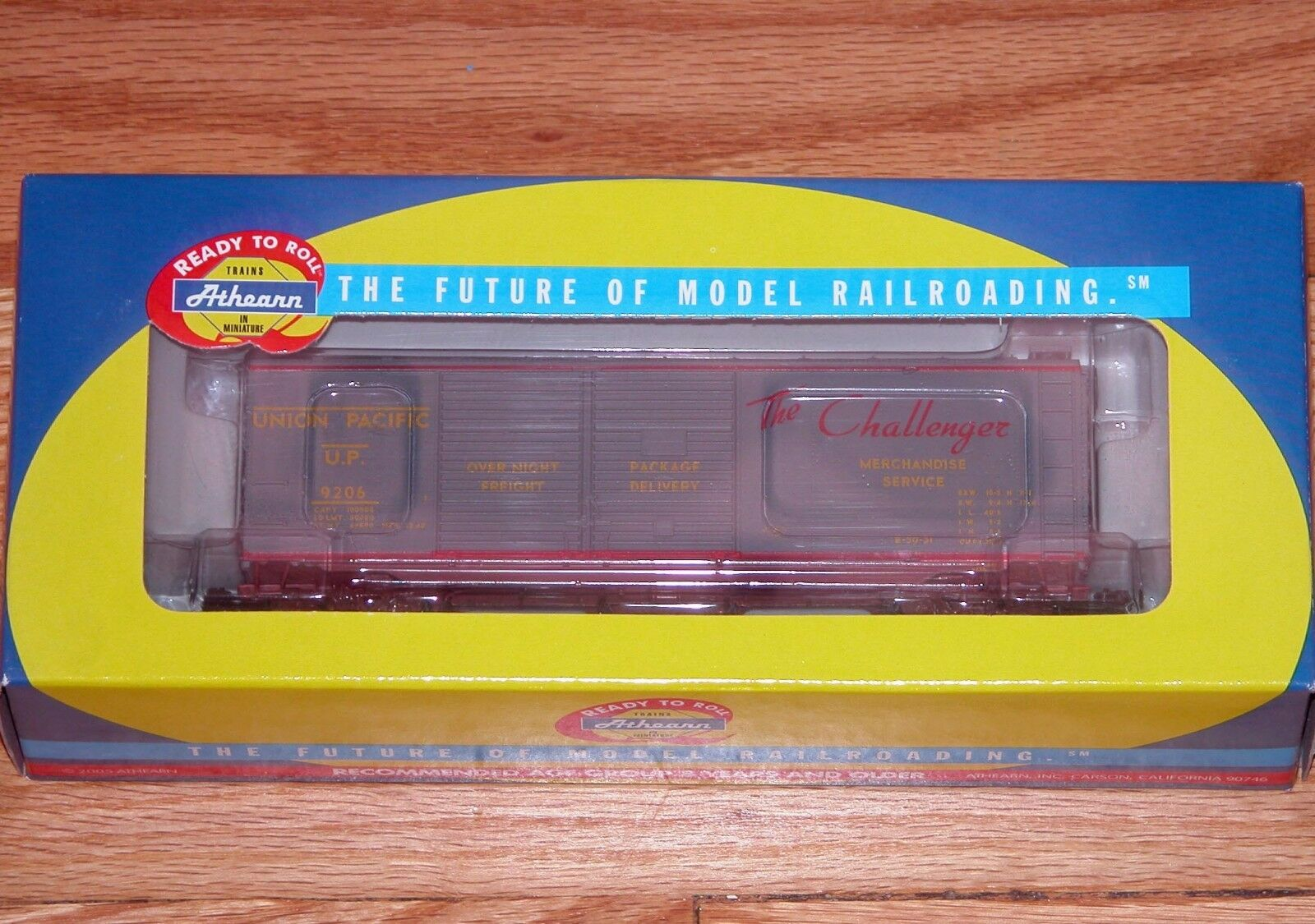 ATHEARN 70193 40' DOUBLE DOOR EXPRESS BOX CAR UNION PACIFIC CHALLENGER UP 9206