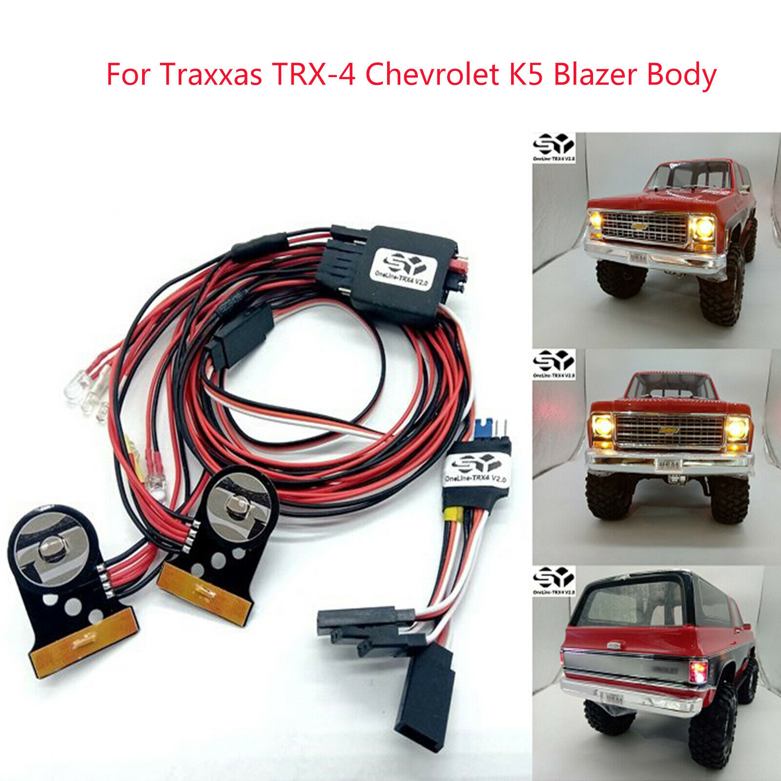 Online-trx4 v2.0 luz LED lámpara lámpara set para Traxxas trx-4 Chevrolet k5 blazer Body