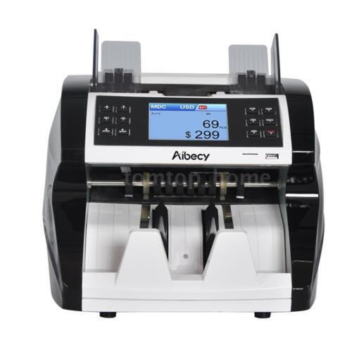 Bank Bill Counter Money Mixed Value Counting Counterfeit Detector UV MG IR E9B3