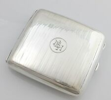 Art Deco Solid Sterling Silver Cigarette Case 105g Hallmarked 1921